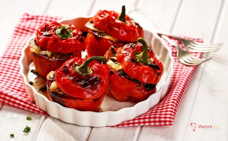 Papriky plněné špenátovým sýrem