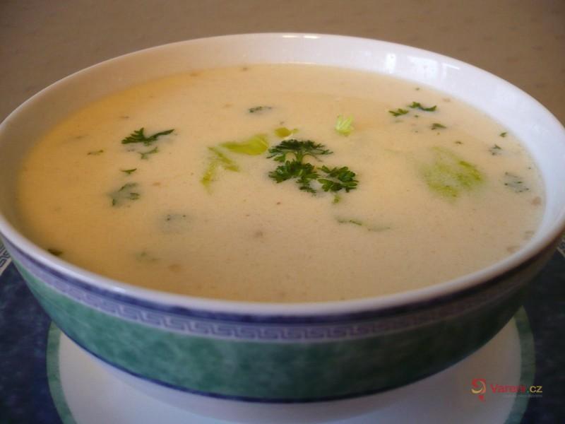 Bílá hovězí polévka se sýrem