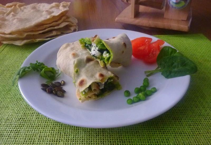 Zeleninová tortilla se sýrem feta