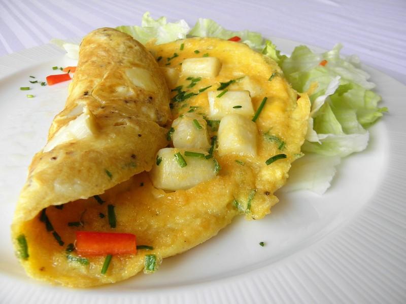 Vaječná omeleta s bílým chřestem