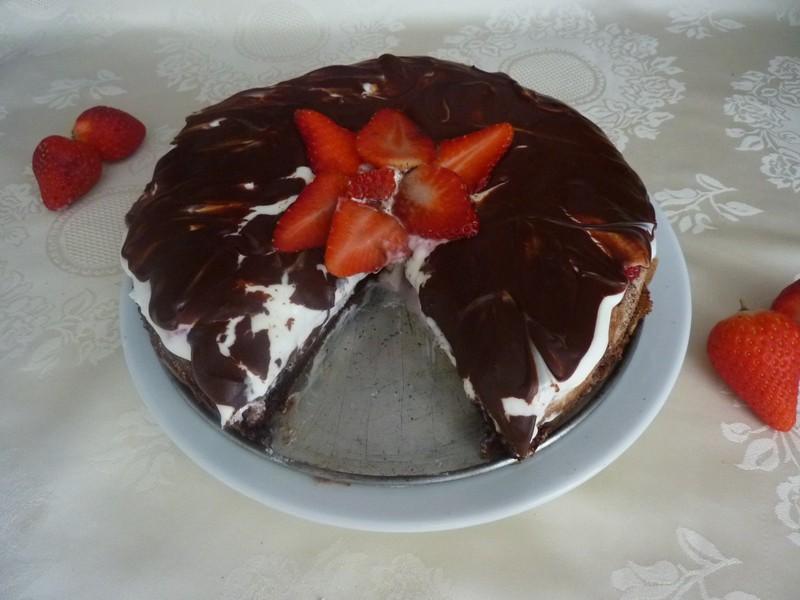 Jahodový Míša dort bez lepku