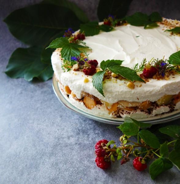 Lehký nepečený tvarohový dort