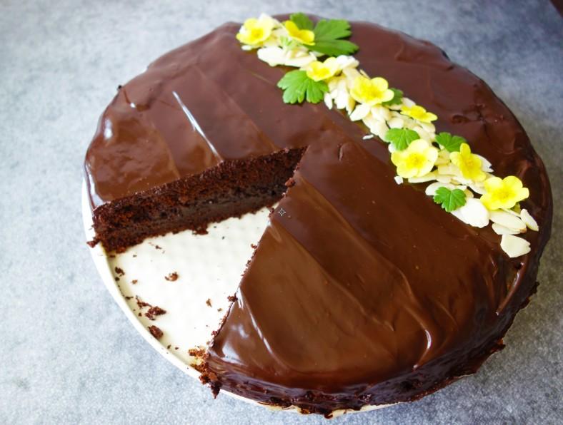 Jablkový čokoládový dort