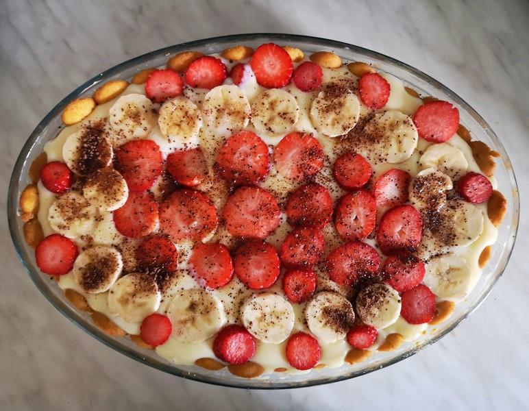 Bezlepkový tvarohovo-pudinkový dort