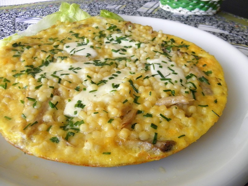 Vaječná omeleta s tarhoňou a sýrem