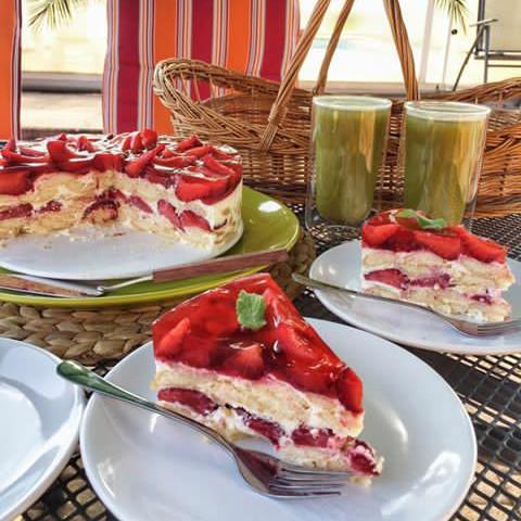 Zdravý nepečený dort