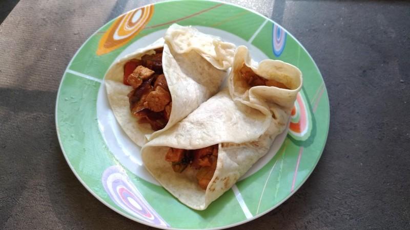 Vepřové nudličky v tortille