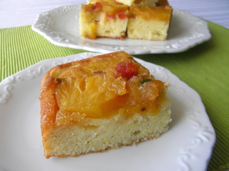 Obrácený koláč s ananasem