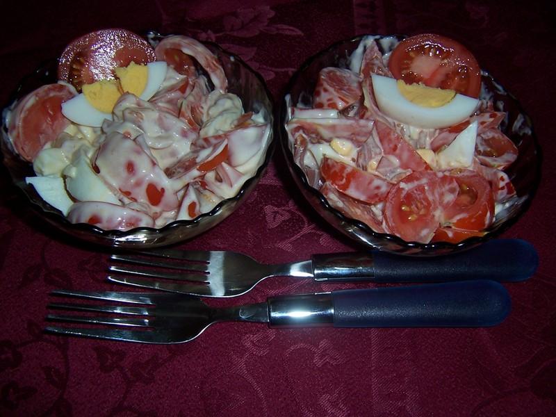 Rajský salát s vejci