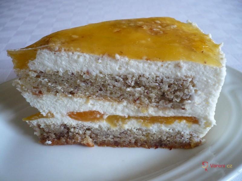 Tvarohový dort z mandlového těsta