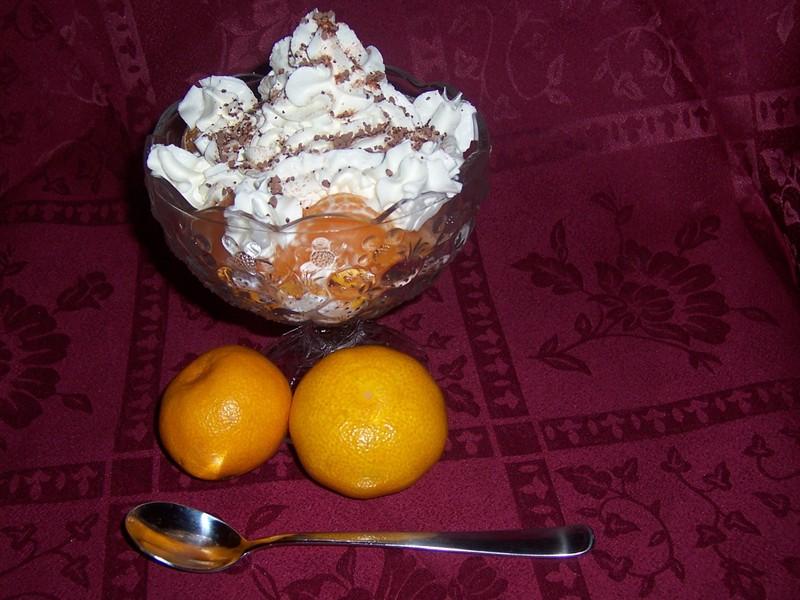 Vanilkový pohár s mandarinkami