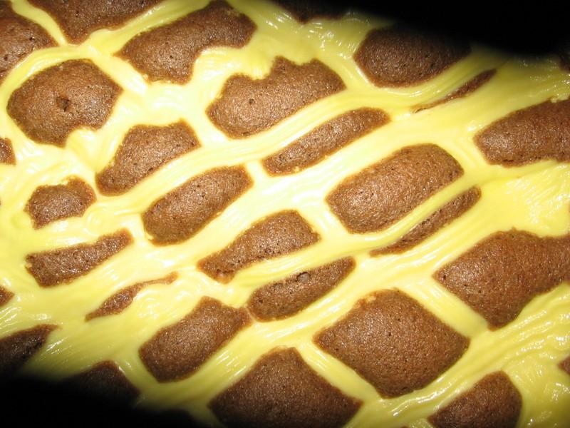 Prošívaná deka - koláč s tvarohem