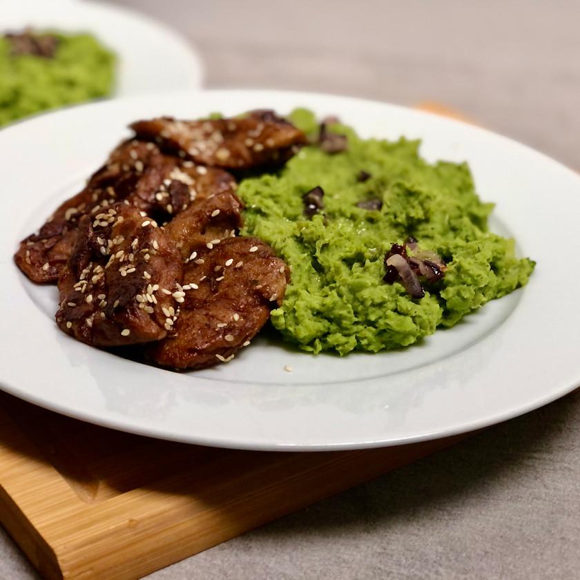 Hráškové pyré s brokolicí
