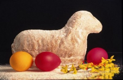 Velikonoční piškotový beránek