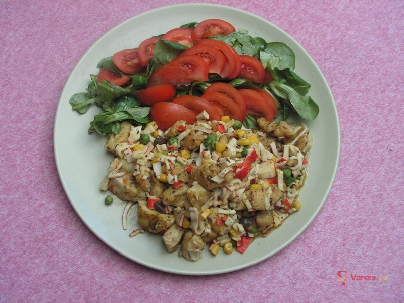 Salát z pangasia