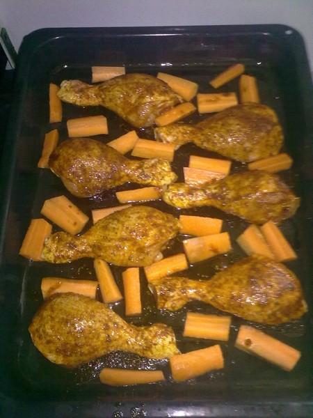Pečená kuřecí stehna