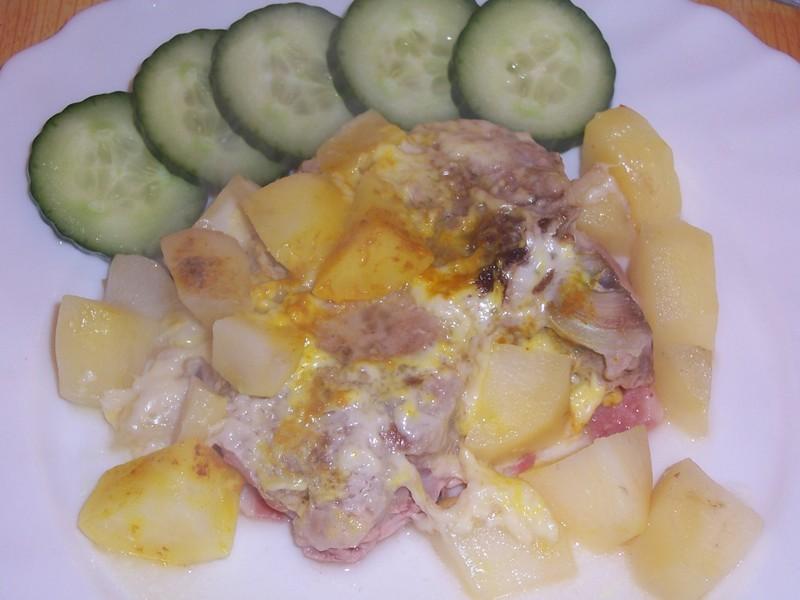 Kotlety s bramborem v alobalu