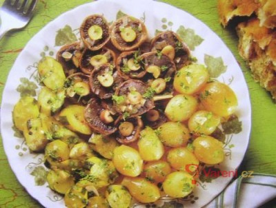 Zelenina a houby po řecku