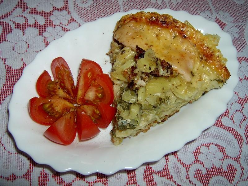 Sýrový brokolicový koláč