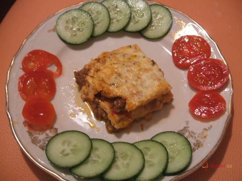 Masové lasagne se zeleninou