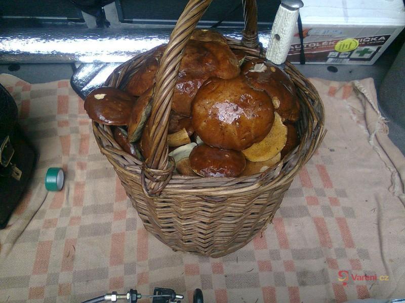 Pečené kuře s houbovou nádivkou
