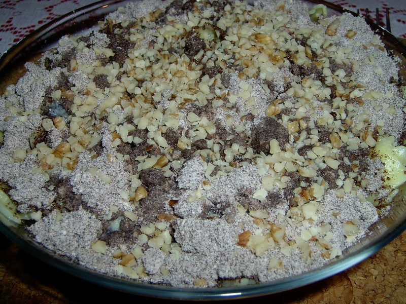 Nudle s ořechy