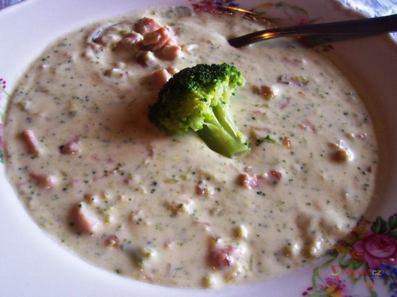 Brokolicový krém s uzeným masem
