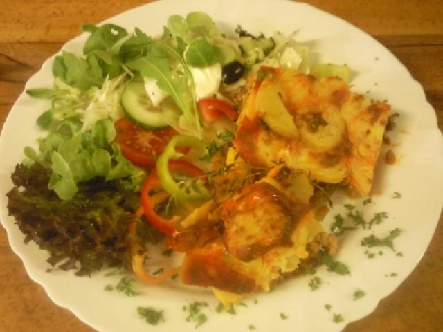 Musaka z masa a brambor