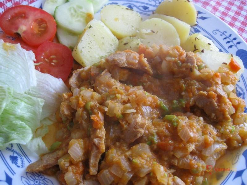 Sójové maso v zeleninovém pyré