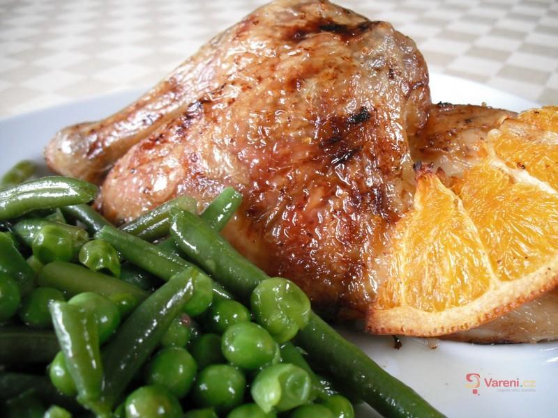 Pečené pomerančové kuře