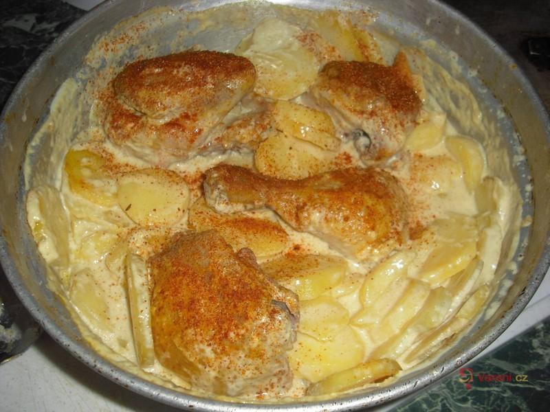 Zapečené kuře na smetaně