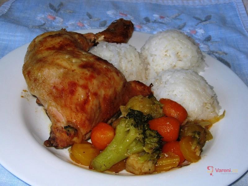 Letní kuře na zelenině