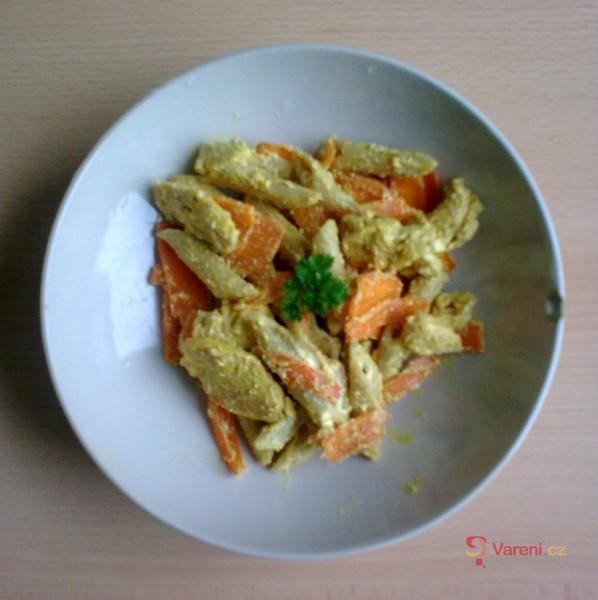 Těstovinový salát po indicku