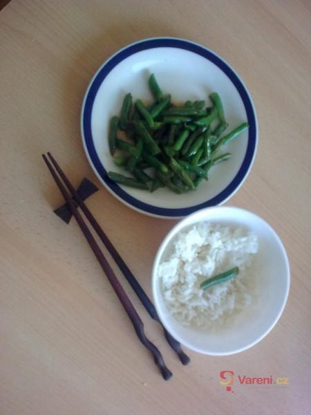 Čínské fazolky s rýží