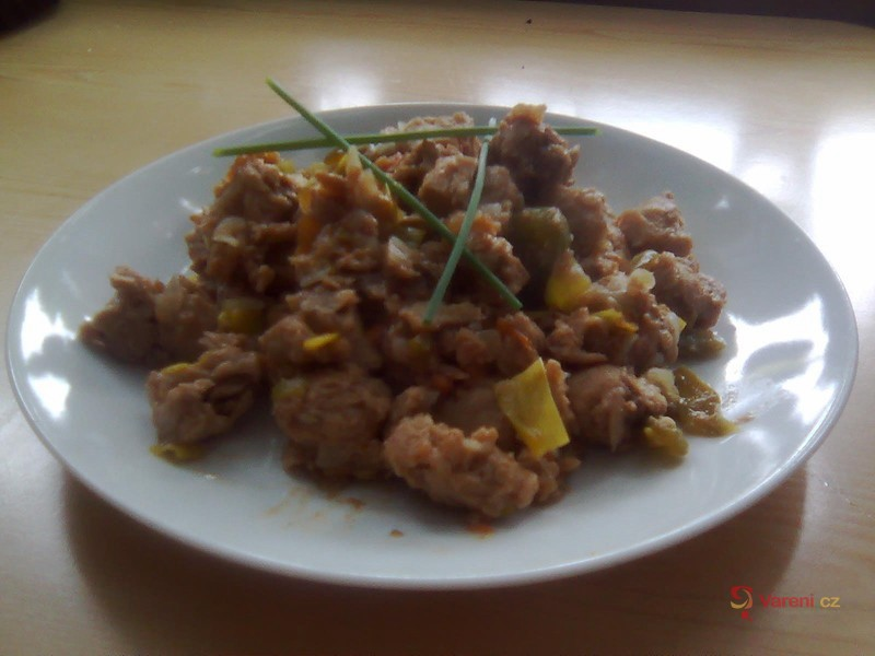 Sójové kostky se zeleninou