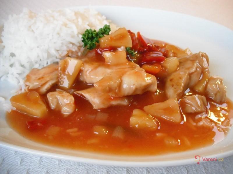 Sladko-kyselé kuře s rýží
