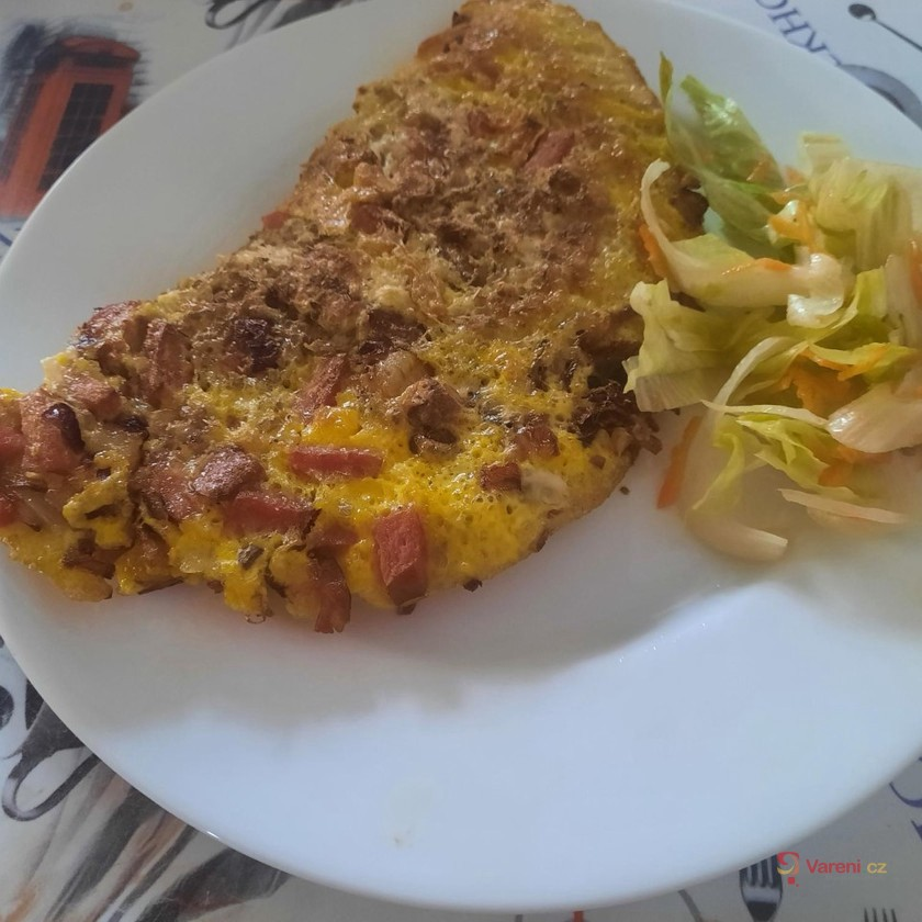 Vaječná omeleta s letními bylinkami