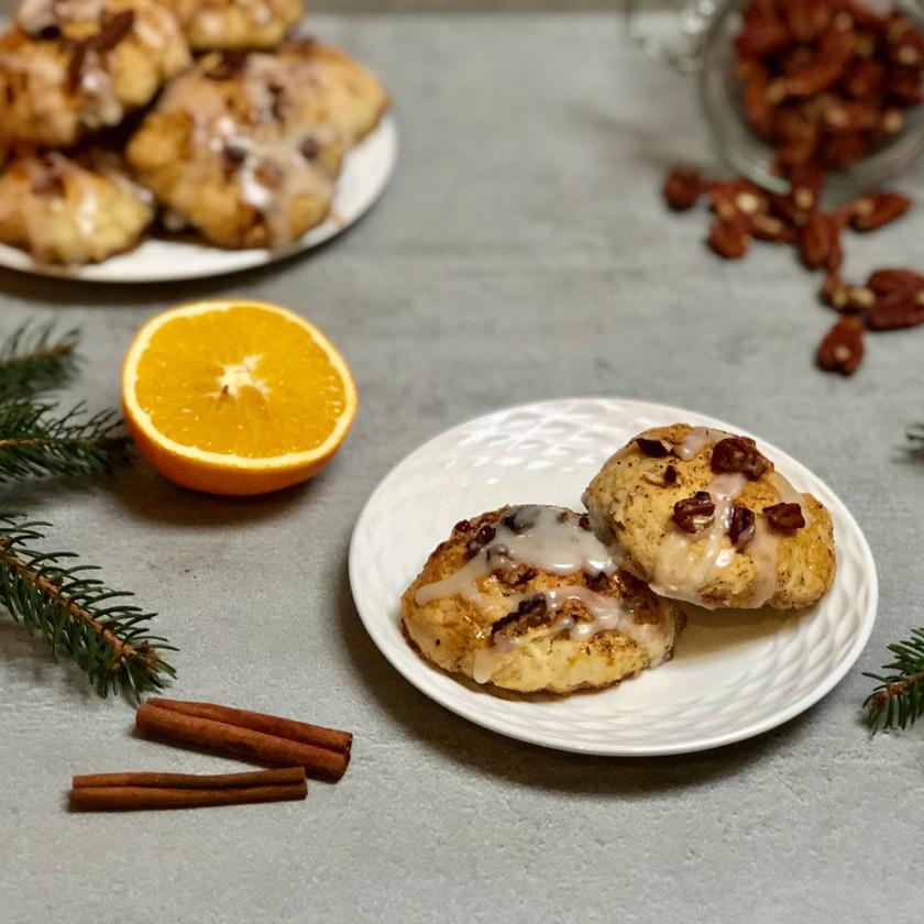 Sladké bochánky s pekanovými ořechy