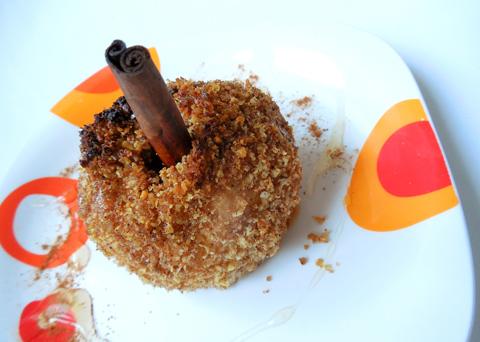 Recept na pečená jablka v ořechové krustě krok za krokem