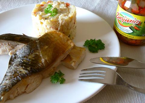 Recept na kapra na modro s bramborovým salátem krok za krokem