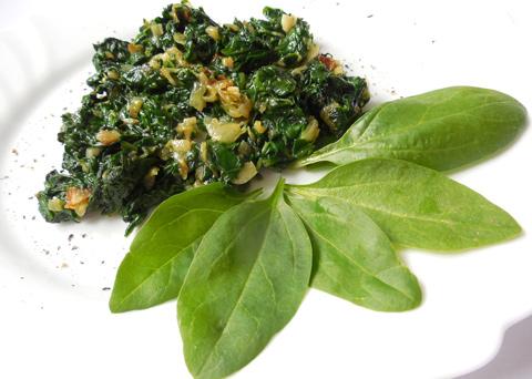 Recept na dušený špenát z čerstvých listů krok za krokem