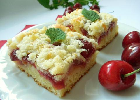 Recept na třešňový koláč z tvarohového těsta krok za krokem