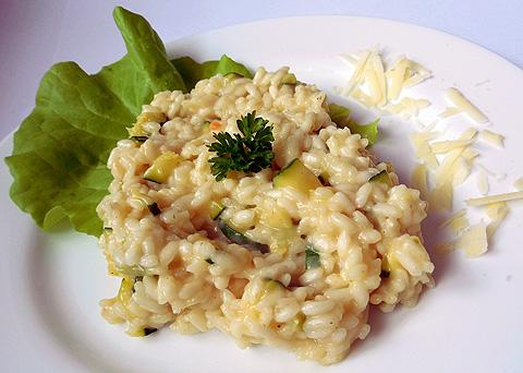 Pravé italské risotto s cuketou a parmazánem