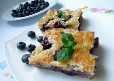 Recept na borůvkový koláč krok za krokem