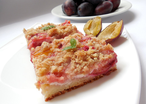 Recept na švestkový koláč s tvarohem krok za krokem
