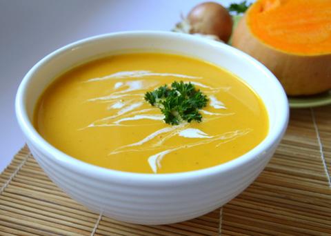 Recept na polévku z pečené dýně krok za krokem