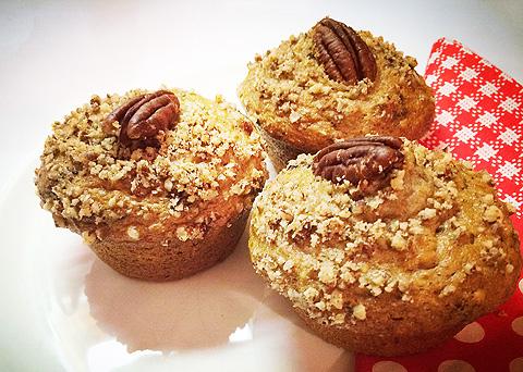 Recept na banánové muffiny s pekanovými ořechy krok za krokem