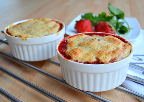 Recept na zapékané jahodové mističky krok za krokem