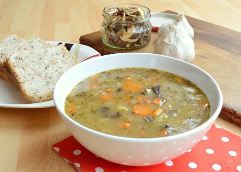 Recept na houbovou bramborovou polévku krok za krokem