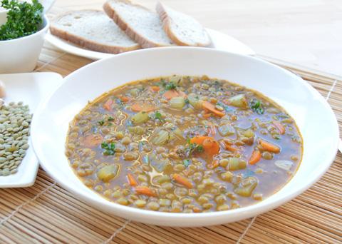 Recept na novoroční čočkovou polévku krok za krokem